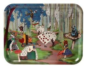 Swedish birchwood Alice in Wonderland tray