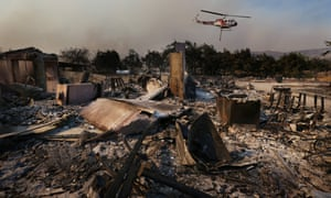 Damaged home California wildfire