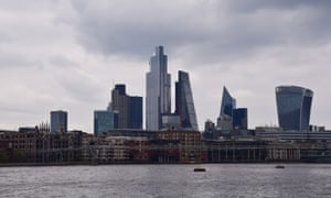 The City of London skyline and the river Thames