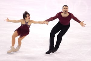 Meagan Duhamel and Eric Radford of Canada on the ice in Pyeongchang.