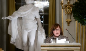 Nobel laureate Svetlana Alexievich at the Swedish Academy in Stockholm, Sweden.