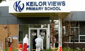 Cleaning crews work to deep clean Keilor Views Primary Schoo in Melbourne