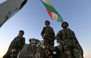 Mount Zardak, east of Mosul, is occupied by peshmerga fighters