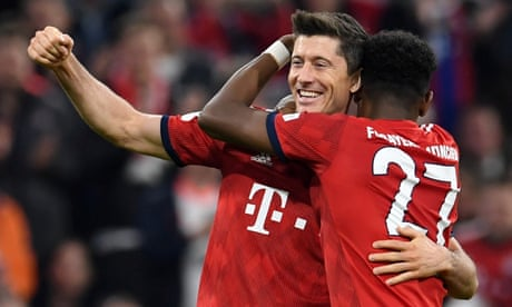 Bayern thrash Dortmund to go top on landmark night for Lewandowski