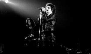 Lou Reed on stage in Copenhagen, August 1973
