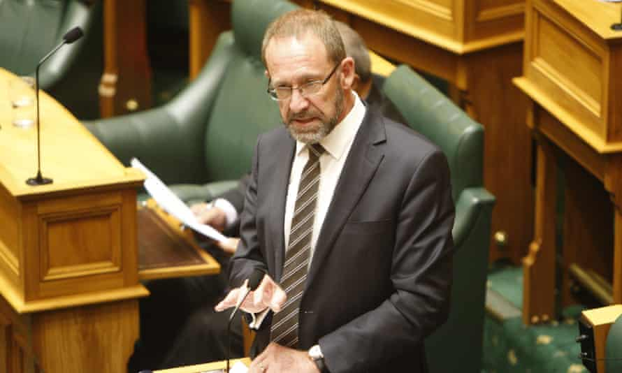 New Zealand Justice Minister Andrew Little speaks to lawmakers in Wellington, New Zealand as they voted on a landmark abortion bill.