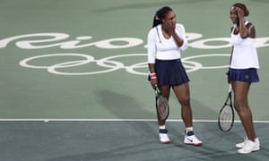 Serena and Venus Williams didn't make it past the first round of the Olympic women's doubles tennis as the Czechs posted a huge upset.
