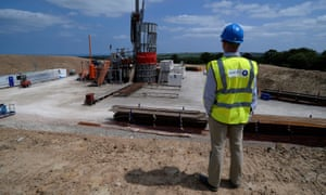 Sirius Minerals' test drilling station at the North York Moors near Whitby