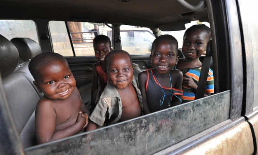 Children in a camp for internally displaced people at the Catholic church of Bossangoa, Central African Republic.