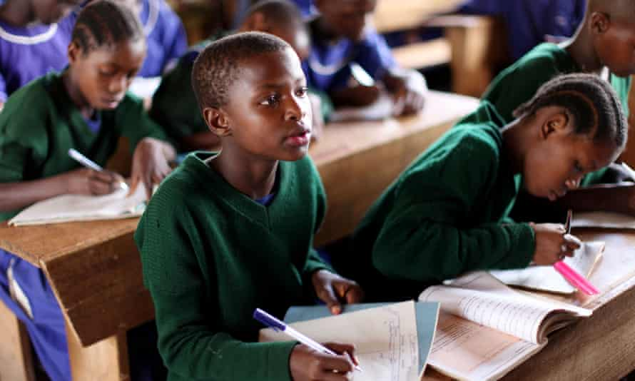 Girls in school in Tanzania.