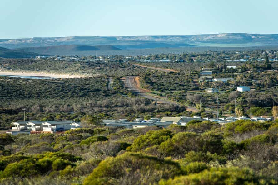 Aerial view of the small town of Kalbarri