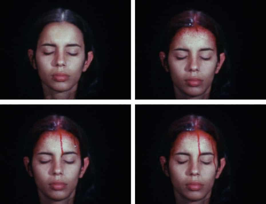 Sweating Blood, by Ana Mendieta (1973).