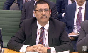 Jon Thompson, chief executive of HMRC, giving evidence to the Treasury committee