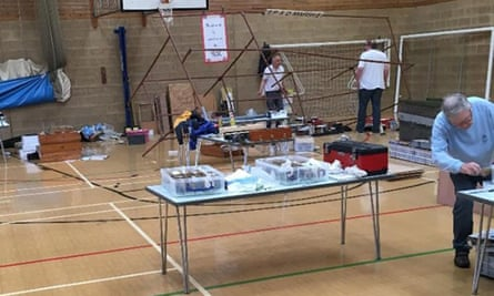 Stands were overturned and layouts destroyed at a school in Stamford, Lincolnshire