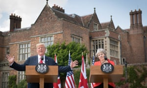 Donald Trump and Theresa May during the US president's visit to Chequers last July