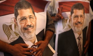 Palestinian supporters of ousted former Egyptian President Morsi
