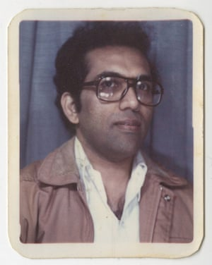 Photo-booth image of Balakrishnan from the 1970s.
