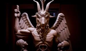 The Satanic Temple's bronze Baphomet.