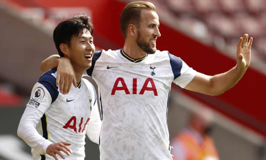 Nine of the 29 goals Tottenham's Son Heung-min (left) and Harry Kane have set up for each other have come in six games this season.