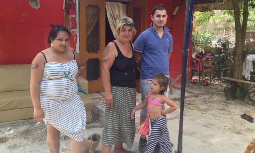Humica with her son Dean and his wife and daughter.