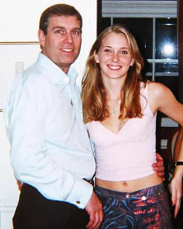 Prince Andrew allegedly with Virginia Roberts, now Giuffre, in 2001.