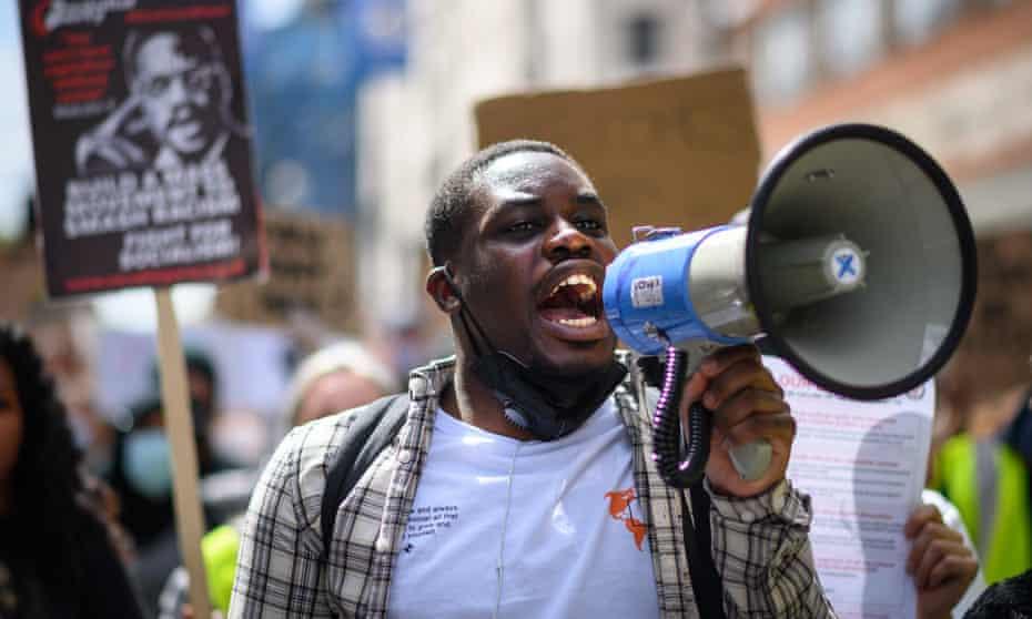 A Black Lives Matter protest, London, 21 June 2020.
