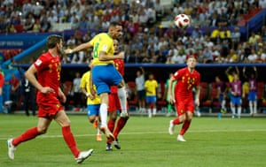 Renato Augusto guides his header home.