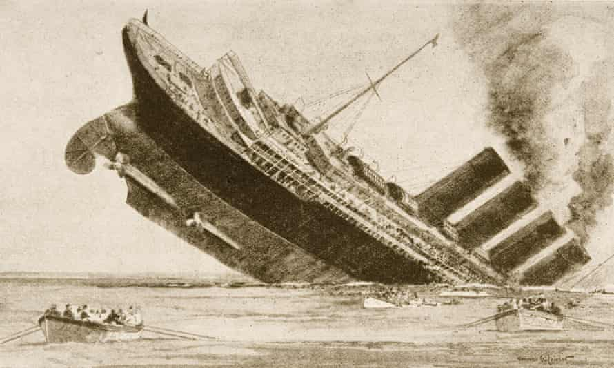 Sinking of the Lusitania, 7 May 1915.