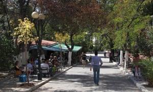 Outdoor Dexameni Cafe, Kolonaki, Athens