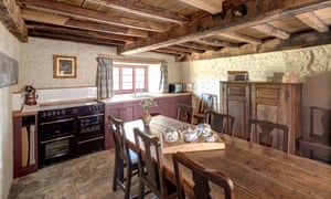 The kitchen in the renovated Llwyn Celyn farmhouse