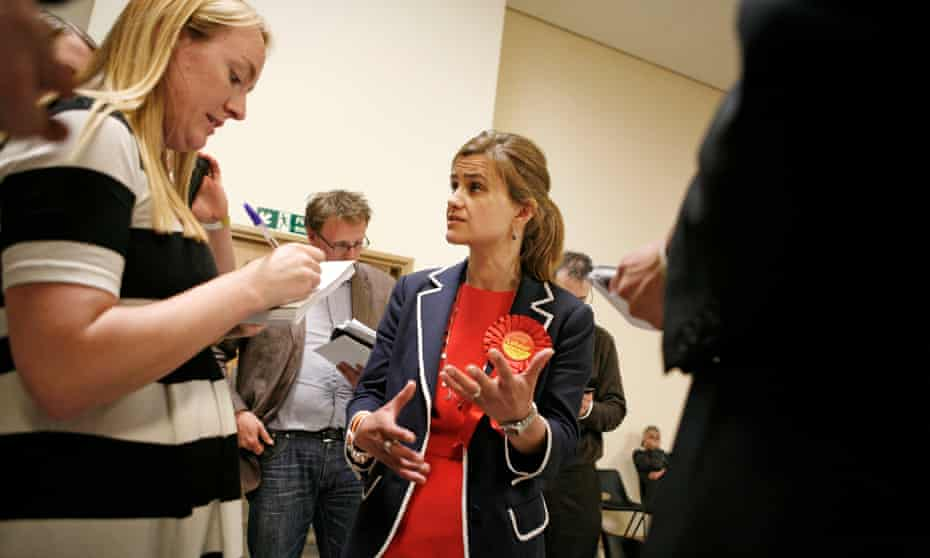 Jo Cox at the general election count in her constituency of Batley and Spen.
