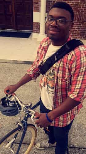 Wash on his bike