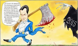 Chris Riddell on the chancellor's austere autumn statement.