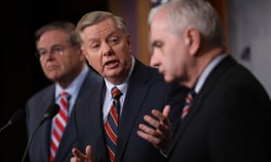 Senators Lindsey Graham, Robert Menendez and Jack spoke out against Donald Trump's decision to remove US military forces from Syria.