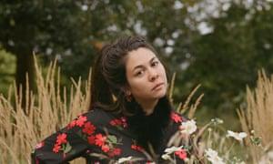 Simone Rocha in a field of flowers