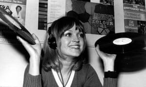 Annie Nightingale at Radio 1 in 1970