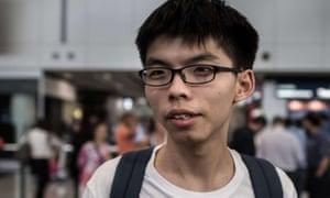 Hong Kong student activist Joshua Wong