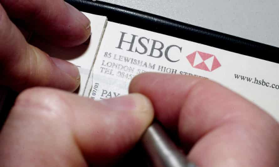 Baffled when an HSBC cheque arrived out of the blue.