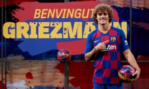 Antoine Griezmann is unveiled by Barcelona, who took out an €85m loan with XXIII Capital to fund the purchase.