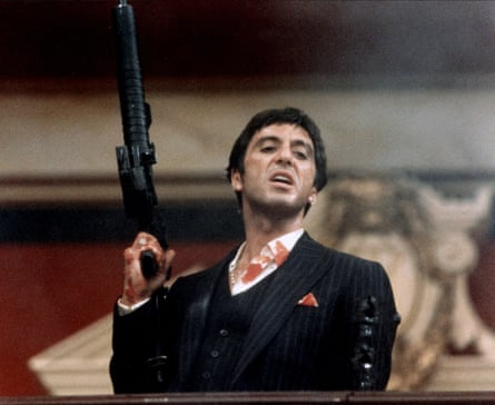 Al Pacino in Scarface, 1983.