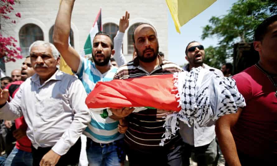 Funeral of Palestinian baby Ali Dawabsheh