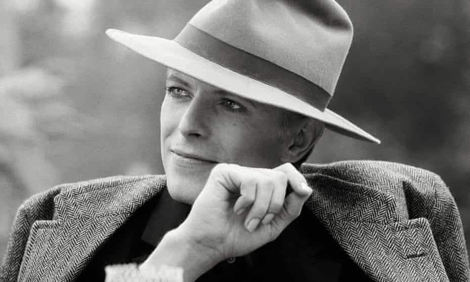 Today he's an alien … Bowie photographed during filming of The Man Who Fell to Earth in Los Angeles, 1976.