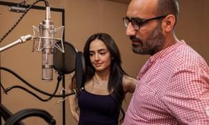 Actors rehearse for new BBC drama, Hay El-Matar, .set in Syria