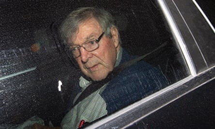 Cardinal George Pell arrives at the Seminary of the Good Shepherd in Sydney on Thursday after being released from jail on Tuesday.