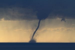 Waterspout just off the Cote d'Azur in France