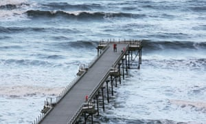 The pier at Saltburn-by-the-Sea in North Yorkshire.