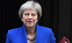 Theresa May at Downing Street.