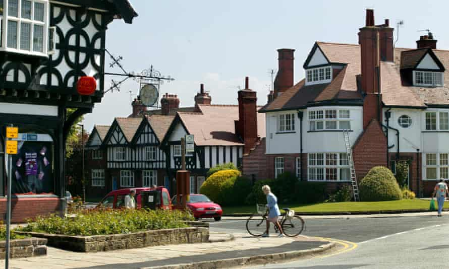 Some of the 900 Grade II-listed buildings set among greens and gardens at Port Sunlight village.