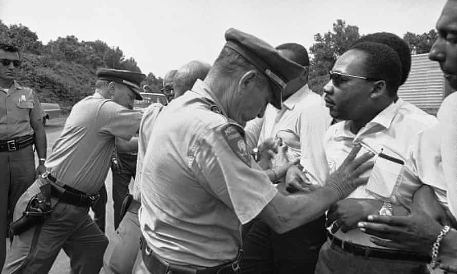 Martin Luther King protesting in 1966.