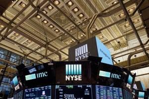 The interior of the New York Stock Exchange.